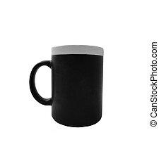 Black mug isolated on white background