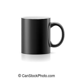 Black mug on white