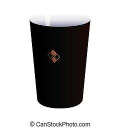 black mug with corporate branding
