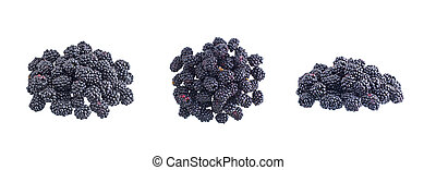 Black mulberry isolated on white