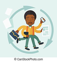 black , multitasking, job., kerel