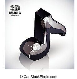 Black musical note icon