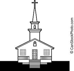 black-n-white, iglesia