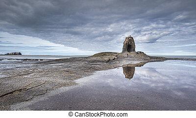 Black Nab Saltwick Bay, Whitby, North Yorkshire UK