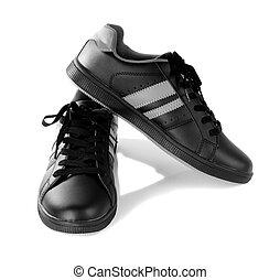 Black new sneakers