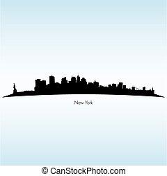 New York Silhouette Skyline