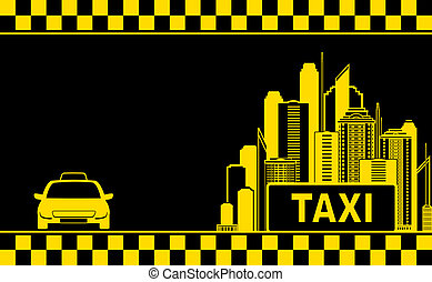 night city background for taxi