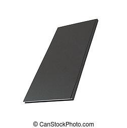 black notebook on white
