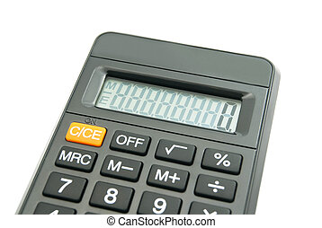 black office calculator on white