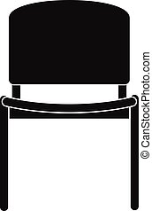 Black office chair icon, simple style