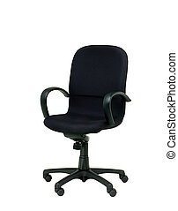 black office chair on white backgro