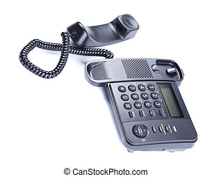 Black Office Phone.