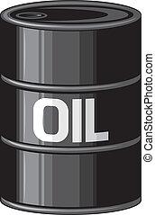 Black oil barrel