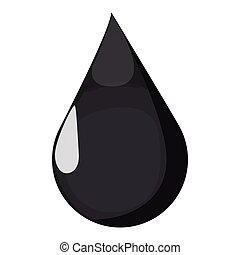 Black oil drop cartoon icon