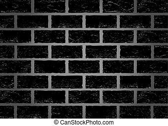 Black old brick background