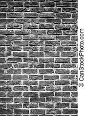 Black old brick wall