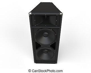 Black old horn loudspeaker
