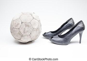 ec9f06831 old ladies shoe on high heels