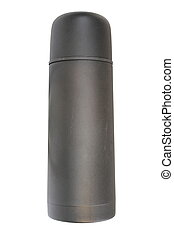black old thermos flask