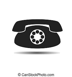black old vintage phone