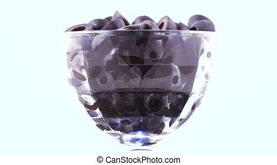 Black olives in the bowl
