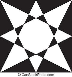 Black on transparency stellar arabesque decor