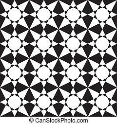 Black on transparency stellar arabesque decor x16