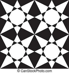 Black on transparency stellar arabesque decor x4