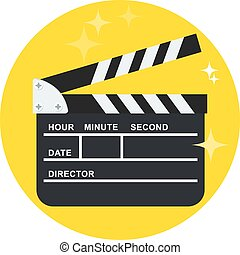 black open clapperboard