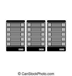 black optimization database icon image design