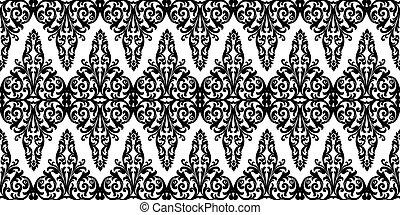 Black oriental pattern