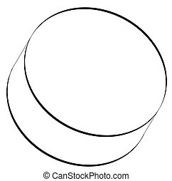 black outline of hockey puck  - black outline of hockey puck