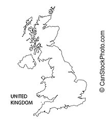 black outline of United Kingdom map
