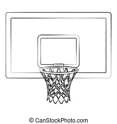 Basketball Balls And Hoop Sport Background Design Vector Illustration