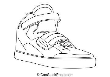 outline shoes black outline vector shoes on white background