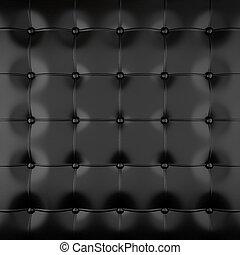black padded leather