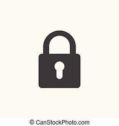 Black padlock icon