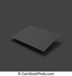 Black page. Business mockup template.