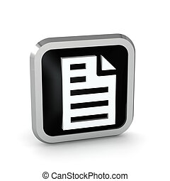 black page icon on a white background