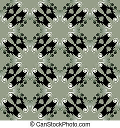 Black pagoda pattern
