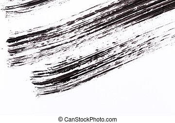 Black paint isolated on white background