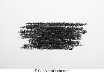 black paint or ink dirty brush strokes. Pencil drawing