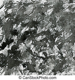 black paint splashes on canvas