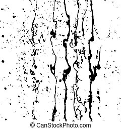 Black paint splashes. Vector illustration