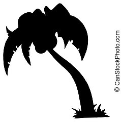 Black Palm Three Silhouette