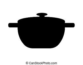 Black Pan Simple Template Vector Illustration