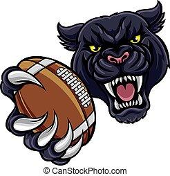 Black Panther American Football Mascot