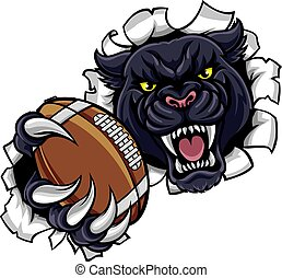 Black Panther American Football Mascot