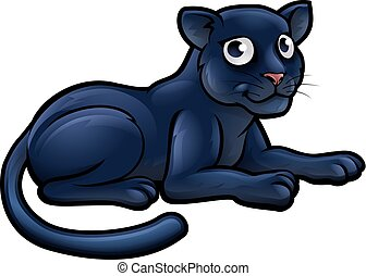 Black Panther Cartoon Character
