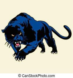 black panther - Multi Colors Illustration Of black panther
